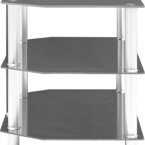 vidaXL Tv-meubel 96x46x50 cm gehard glas zwart VDXL_249541
