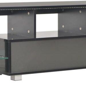 vidaXL Tv-meubel met LED-verlichting 130x35x45 cm hoogglans zwart VDXL_283735