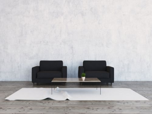 Zwarte woonkamer meubels