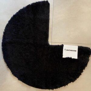 Badmat voor vierkante douchecabine - badmat voor hoekinstap douche - badmat rond - badmat zwart - douchemat