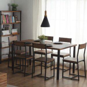 Beliani LAREDO - Eettafel - Zwart - MDF