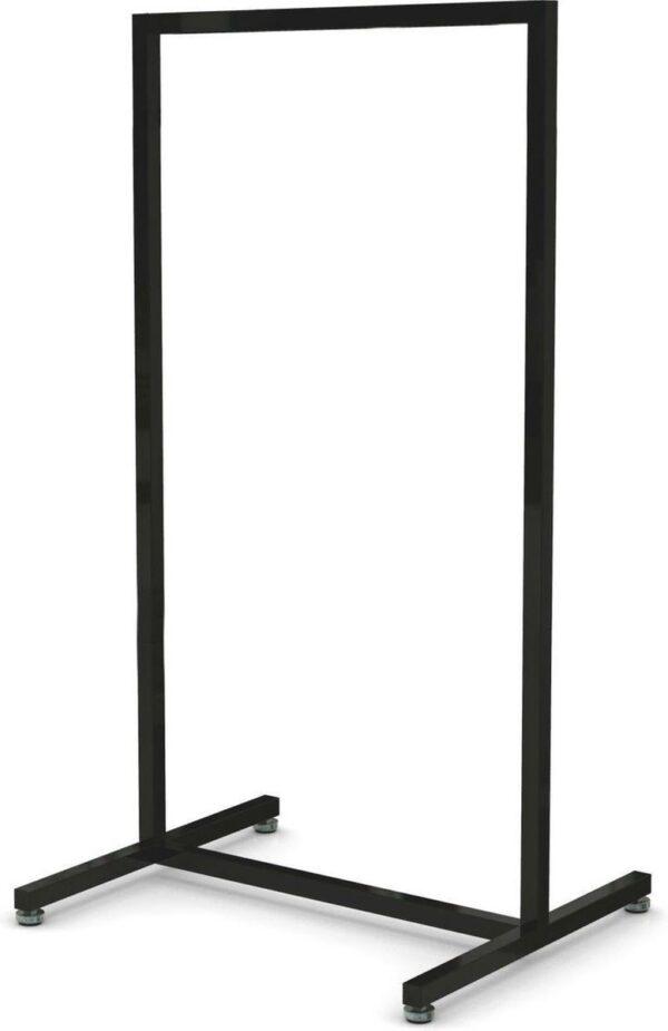 Laag model zwart Italiaans design kledingrek 60 cm breed