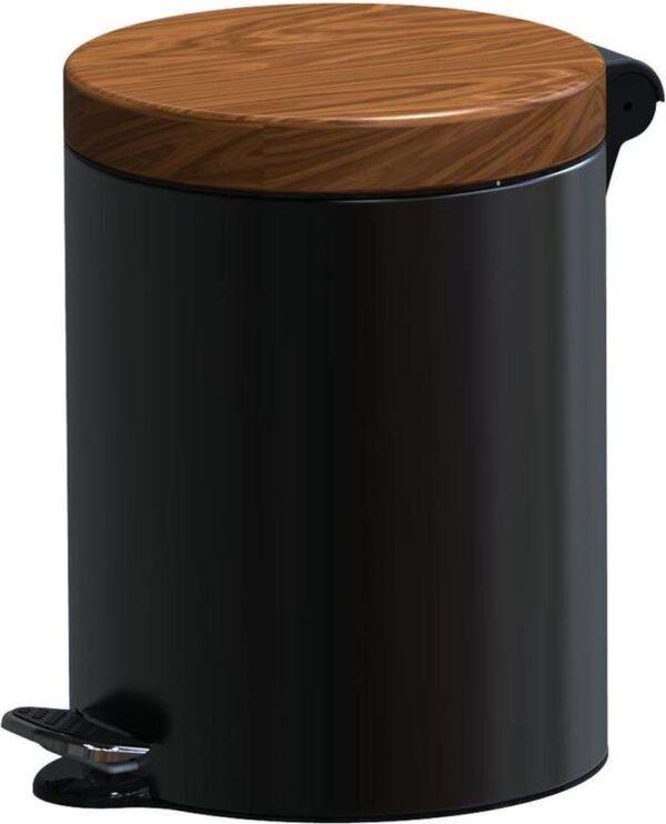 ALDA Excellent, Pedaalemmer - 3L - Zwart - afvalbak, prullenbak
