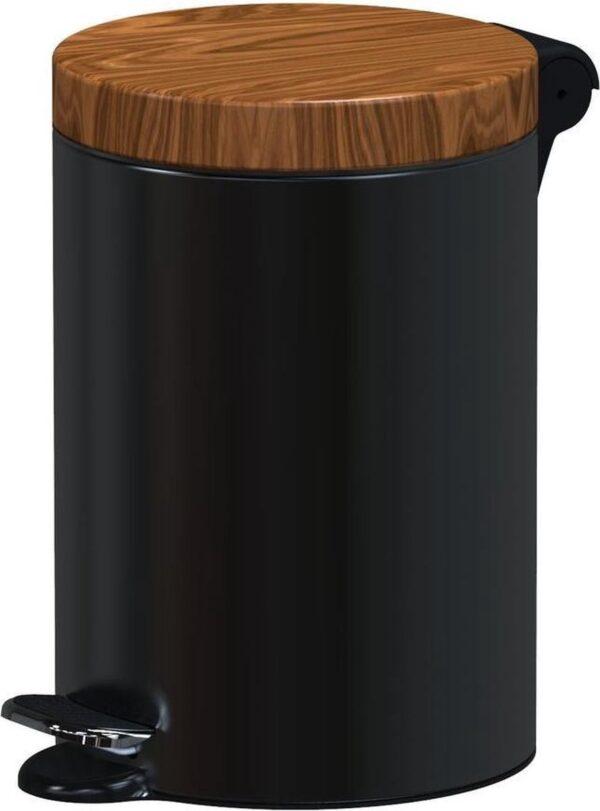 ALDA Excellent, Pedaalemmer - 5L - Zwart - afvalbak, prullenbak,