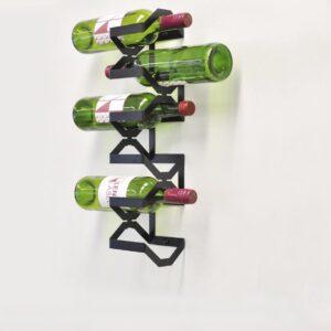 Balanced zwart, wijnrek