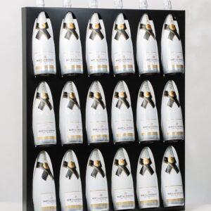 Ferro Duro - Wijnrek voor aan de muur - 18 flessen - zwart
