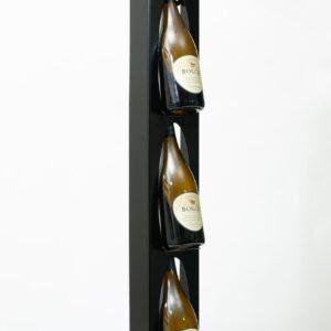 Ferro Duro - Wijnrek voor aan de muur - 3 flessen - zwart - flessenrek