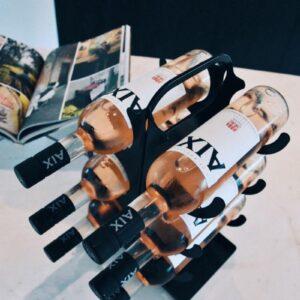 Ferro Duro - staand wijnrek - 6 flessen - zwart - flessenrek