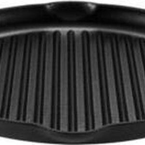 Grillplaat - Zwart Buccan - Hamersley - Gietijzeren pannenset - Grillplaat - Zwart 37x34x2,85 cm (Inclusief handvatten) Diameter 32 cm