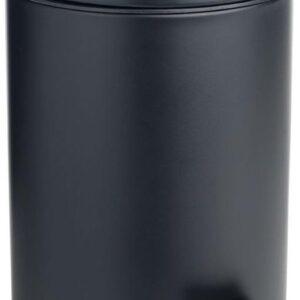 Pedaalemmer / mat zwart / metaal / prullenbak / 3 L / 3 liter / 19 x 16 x 24,5 cm / badkamer / toilet / kantoor / slaapkamer / keuken