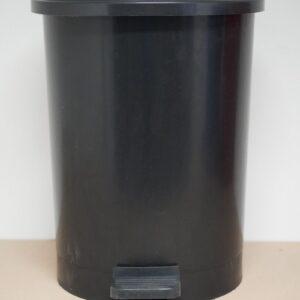 Prullenbak pedaalemmer rond zwart 40L