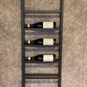 Wijnrek zwart metaal 6 flessen