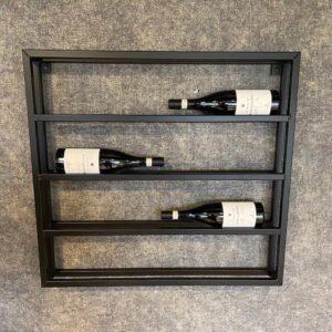 Wijnrek zwart metaal dubbel - 8 flessen