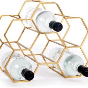XLBoom Pico Wijnrek Medium - 28 x 20 x 28 cm - Zwart - 5 flessen