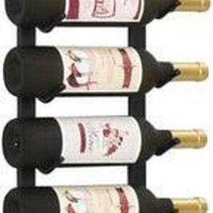 Xaptovi Wijnrek wandmontage voor 12 flessen zwart metaal