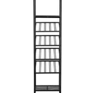 Zuiver Cantor S Wijnrek - 45x35x180 - Zwart Metaal