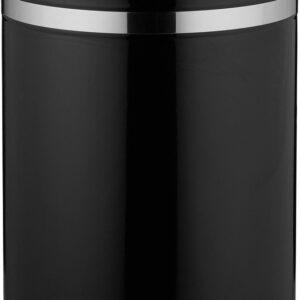 relaxdays pedaalemmer 12 liter - met binnenemmer - prullenbak met deksel - edelstaal zwart