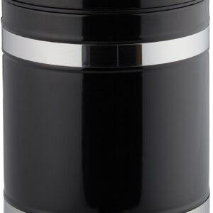 relaxdays pedaalemmer 3 liter - met binnenemmer - prullenbak met deksel - edelstaal zwart
