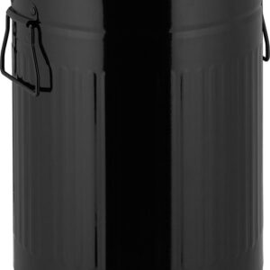 relaxdays pedaalemmer retro - 12 liter - afvalemmer binnenemmer - prullenbak met deksel zwart
