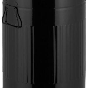 "relaxdays pedaalemmer ""retro"" 20 liter - prullenbak - afvalemmer - met binnenemmer - rond zwart"