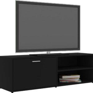 vidaXL Tv-meubel 120x34x37 cm spaanplaat zwart VDXL_801153
