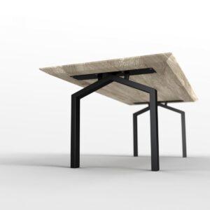 Concept Huis - Eettafel - 220 x 100 cm - Matte lak - Zwarte poedercoating