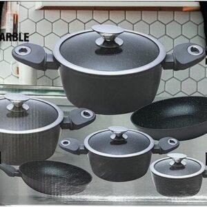 Homelux - 10 delige - pannenset- zwart kleurig