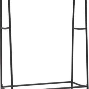 Kledingrek - metaal - zwart - 115 x 48 x 146 cm