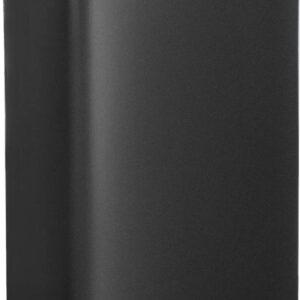 LIVILO - Prullenbak - 30 liter afvalemmer - Pedaalemmer van staal - Zwart