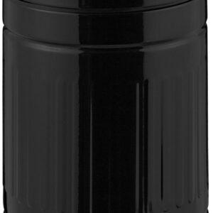 relaxdays pedaalemmer 3 liter - metaal - prullenbak met deksel - afvalbak - vuilnisbak zwart