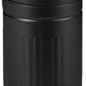 relaxdays pedaalemmer 3 liter - prullenbak met softclose deksel - vuilnisbak voor badkamer zwart