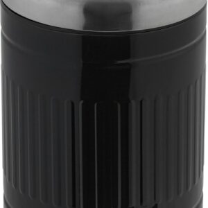 relaxdays pedaalemmer 3 liter - softclose vuilnisbak met binnenemmer - prullenbak metaal zwart