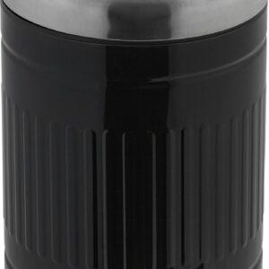 relaxdays pedaalemmer 5 liter - metalen vuilnisbak retro - prullenbak met softclose deksel zwart