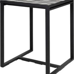 By Kohler Eettafel vierkant zwart metaal (V-000135)