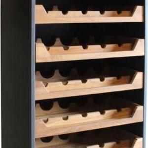 By Kohler Wijnrek zwart met bruin laden vintage industrieel (112772)