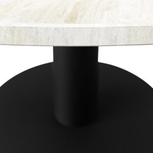 KIYO Ronde Eettafel - Travertin (Zwarte Middenpoot) - 150 cm
