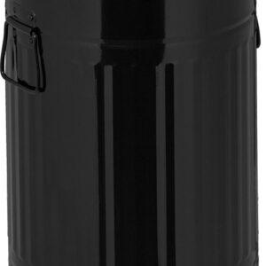 relaxdays pedaalemmer 12 l - metaal - keuken prullenbak - afvalbak - vuilnisbak - retro zwart
