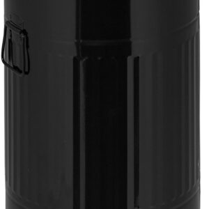 relaxdays pedaalemmer 20 l - metaal - keuken prullenbak - afvalbak met deksel - retro zwart