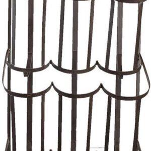 Clayre & Eef Wijnrek 30*18*83 cm Zwart Ijzer Rechthoek Flessenrek Flessenhouder