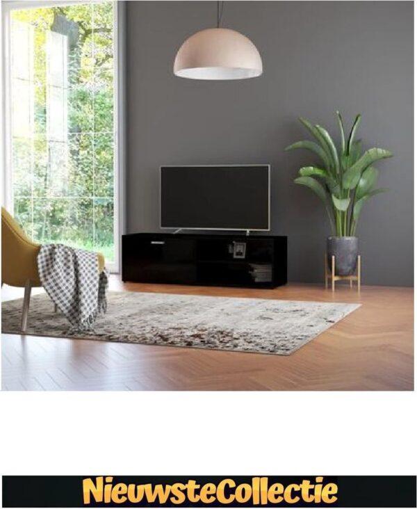 {LUXE OP=OP!! } Tv meubilair - Spaanplaat - Hoogglans zwart - Kast - Designer - Meubel - TV - Woonkamer - Slaapkamer - Nieuwste Collectie