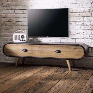 Yels Carry TV-Meubel 120 cm Zwart Hout