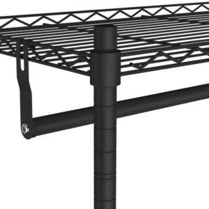 vidaXL Kledingrek 2-laags met wielen 100 kg 90x45x186 cm zwart VDXL_324632