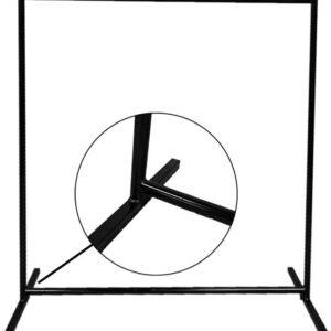 Hofijzer Metaal Kledingrek 150x50x165cm zwart